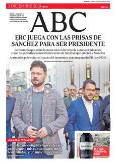 ERC JUEGA CON LAS PRISAS DE SÁNCHEZ PARA SER PRESIDENTE
