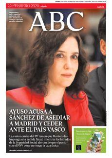AYUSO ACUSA A SÁNCHEZ DE ASEDIAR A MADRID Y CEDER ANTE EL PAÍS VASCO