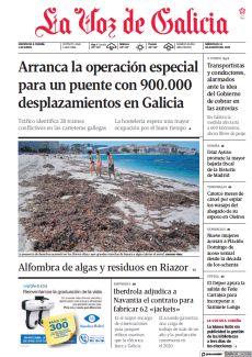 ALFOMBRA DE ALGAS Y RESIDUOS EN RIAZOR