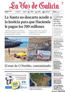 LA XUNTA NO DESCARTA ACUDIR A LA JUSTICIA PARA QUE HACIENDA LE PAGUE LOS 700 MILLONES
