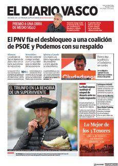 EL PNV FÍA EL DESBLOQUEO A UNA COALICIÓN DE PSOE Y PODEMOS CON SU RESPALDO