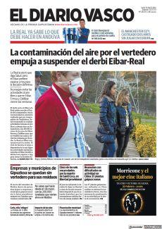 LA CONTAMINACIÓN DEL AIRE POR EL VERTEDERO EMPUJA A SUSPENDER EL DERBI EIBAR-REAL