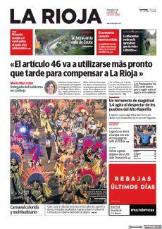 «EL ARTÍCULO 46 VA A UTILIZARSE MÁS PRONTO QUE TARDE PARA COMPENSAR A LA RIOJA »
