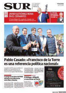PABLO CASADO: «FRANCISCO DE LA TORRE ES UNA REFERENCIA POLÍTICA NACIONAL»