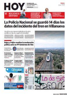 LA POLICÍA NACIONAL SE GUARDÓ 14 DÍAS LOS DATOS DEL INCIDENTE DEL TREN EN VILLANUEVA