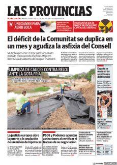 LIMPIEZA DE CAUCES CONTRA RELOJ ANTE LA GOTA FRÍA