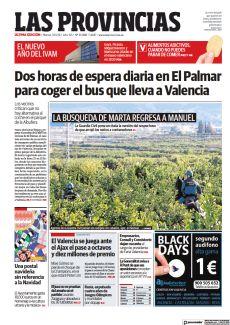 DOS HORAS DE ESPERA DIARIA EN EL PALMAR PARA COGER EL BUS QUE LLEVA A VALENCIA