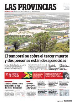 EL TEMPORAL SE COBRA EL TERCER MUERTO Y DOS PERSONAS ESTÁN DESAPARECIDAS