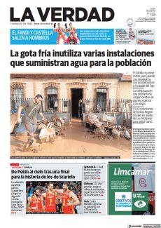 LA GOTA FRÍA INUTILIZA VARIAS INSTALACIONES QUE SUMINISTRAN AGUA PARA LA POBLACIÓN