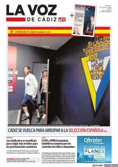 CÁDIZ SE VUELCA PARA ARROPAR A LA SELECCIÓN ESPAÑOLA P16