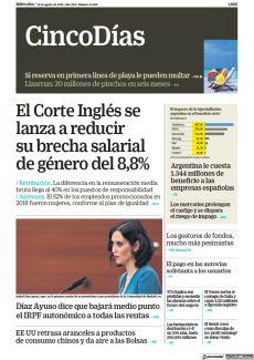 EL CORTE INGLÉS SE LANZA A REDUCIR SU BRECHA SALARIAL DE GÉNERO DEL 8,8%