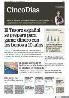 EL TESORO ESPAÑOL SE PREPARA PARA GANAR DINERO CON LOS BONOS A 10 AÑOS