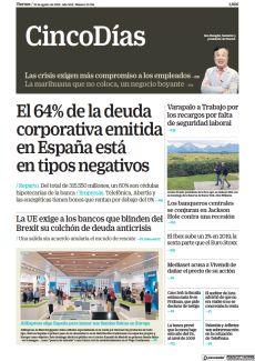 EL 64% DE LA DEUDA CORPORATIVA EMITIDA EN ESPAÑA ESTÁ EN TIPOS NEGATIVOS