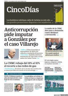 ANTICORRUPCIÓN PIDE IMPUTAR A GONZÁLEZ POR EL CASO VILLAREJO