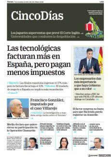 LAS TECNOLÓGICAS FACTURAN MÁS EN ESPAÑA, PERO PAGAN MENOS IMPUESTOS