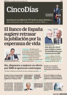 EL BANCO DE ESPAÑA SUGIERE RETRASAR LA JUBILACIÓN POR LA ESPERANZA DE VIDA
