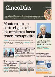 MONTERO ATA EN CORTO EL GASTO DE LOS MINISTROS HASTA TENER PRESUPUESTO