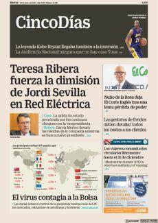 TERESA RIBERA FUERZA LA DIMISIÓN DE JORDI SEVILLA EN RED ELÉCTRICA
