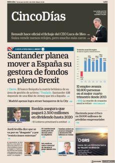 SANTANDER PLANEA MOVER A ESPAÑA SU GESTORA DE FONDOS EN PLENO BREXIT