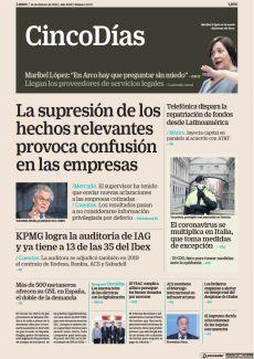 LA SUPRESIÓN DE LOS HECHOS RELEVANTES PROVOCA CONFUSIÓN EN LAS EMPRESAS