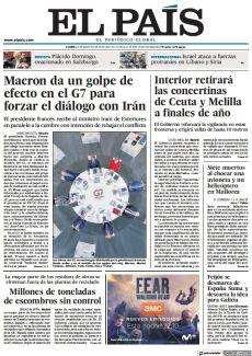 MACRON DA UN GOLPE DE EFECTO EN EL G7 PARA FORZAR EL DIÁLOGO CON IRÁN