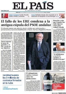 EL FALLO DE LOS ERE CONDENA A LA ANTIGUA CÚPULA DEL PSOE ANDALUZ