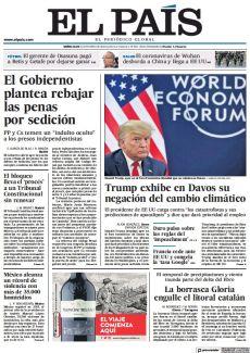 TRUMP EXHIBE EN DAVOS SU NEGACIÓN DEL CAMBIO CLIMÁTICO
