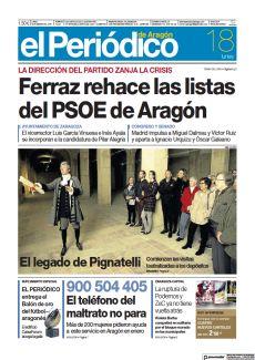 FERRAZ REHACE LAS LISTAS DEL PSOE DE ARAGÓN