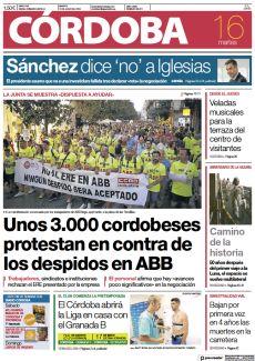 UNOS 3.000 CORDOBESES PROTESTAN EN CONTRA DE LOS DESPIDOS EN ABB