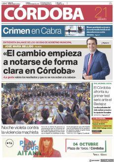 «EL CAMBIO EMPIEZA A NOTARSE DE FORMA CLARA EN CÓRDOBA»