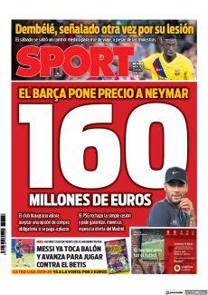 160 EL BARÇA PONE PRECIO A NEYMAR MILLONES DE EUROS