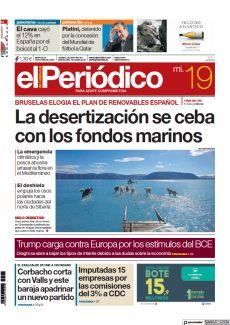 BRUSELAS ELOGIA EL PLAN DE RENOVABLES ESPAÑOL LA DESERTIZACIÓN SE CEBA CON LOS FONDOS MARINOS