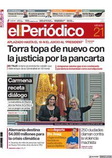 APLAZADO HASTA EL 18-N EL JUICIO AL 'PRESIDENT' TORRA TOPA DE NUEVO CON LA JUSTICIA POR LA PANCARTA