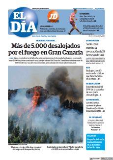 MÁS DE 5.000 DESALOJADOS POR EL FUEGO EN GRAN CANARIA