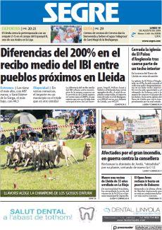 DIFERENCIAS DEL 200% EN EL RECIBO MEDIO DEL IBI ENTRE PUEBLOS PRÓXIMOS EN LLEIDA