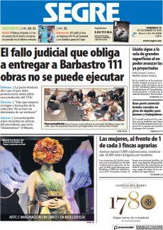EL FALLO JUDICIAL QUE OBLIGA A ENTREGAR A BARBASTRO 111 OBRAS NO SE PUEDE EJECUTAR