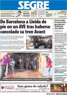 DE BARCELONA A LLEIDA DE PIE EN UN AVE TRAS HABERSE CANCELADO SU TREN AVANT