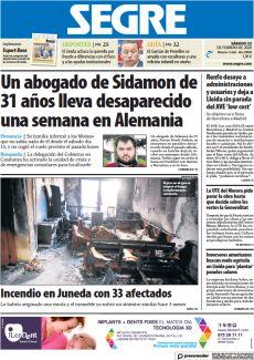 INCENDIO EN JUNEDA CON 33 AFECTADOS