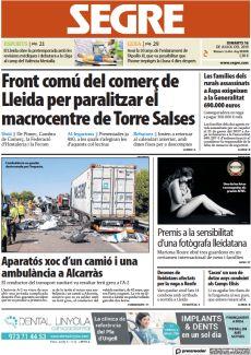 FRONT COMÚ DEL COMERÇ DE LLEIDA PER PARALITZAR EL MACROCENTRE DE TORRE SALSES
