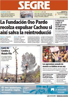 LA FUNDACIÓN OSO PARDO RECOLZA EXPULSAR CACHOU SI AIXÍ SALVA LA REINTRODUCCIÓ