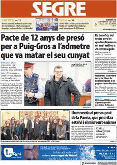 PACTE DE 12 ANYS DE PRESÓ PER A PUIG-GROS A L'ADMETRE QUE VA MATAR EL SEU CUNYAT