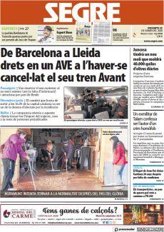 DE BARCELONA A LLEIDA DRETS EN UN AVE A L'HAVER-SE CANCEL·LAT EL SEU TREN AVANT