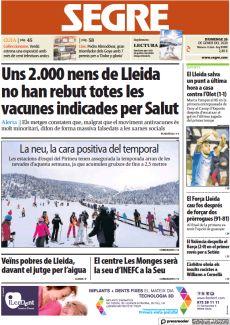 UNS 2.000 NENS DE LLEIDA NO HAN REBUT TOTES LES VACUNES INDICADES PER SALUT