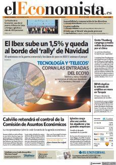 EL IBEX SUBE UN 1,5% Y QUEDA AL BORDE DEL 'RALLY' DE NAVIDAD