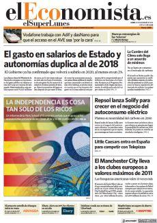 EL GASTO EN SALARIOS DE ESTADO Y AUTONOMÍAS DUPLICA AL DE 2018