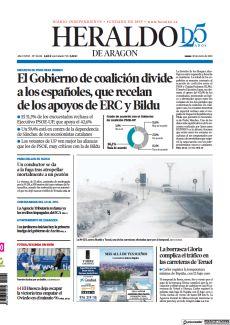 LA BORRASCA GLORIA COMPLICA EL TRÁFICO EN LAS CARRETERAS DE TERUEL