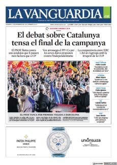 EL DEBAT SOBRE CATALUNYA TENSA EL FINAL DE LA CAMPANYA