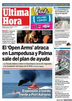 EL 'OPEN ARMS' ATRACA EN LAMPEDUSA Y PALMA SALE DEL PLAN DE AYUDA