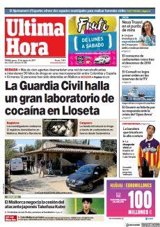 LA GUARDIA CIVIL HALLA UN GRAN LABORATORIO DE COCAÍNA EN LLOSETA