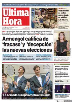 ARMENGOL CALIFICA DE 'FRACASO' Y 'DECEPCIÓN' LAS NUEVAS ELECCIONES